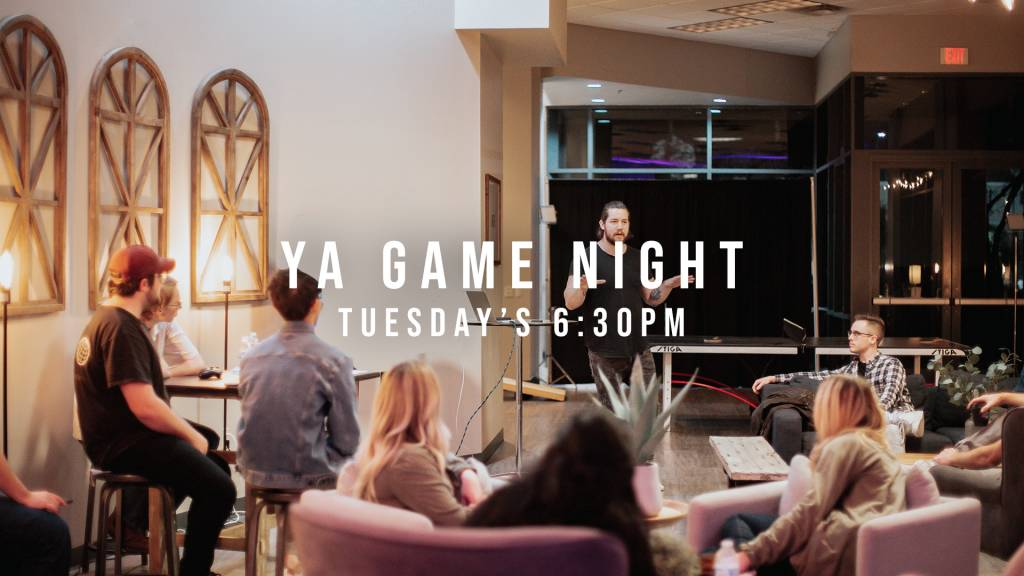 Young Adult Games night on tuesday's at 6:30pm