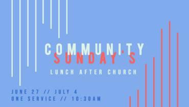 Community Sunday